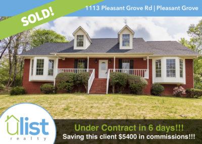 1113 Pleasant Grove Rd  |  Pleasant Grove, AL